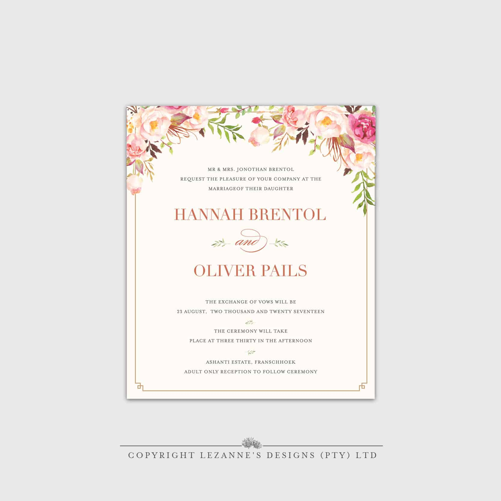 Wedding Invitations | Wedding Stationery | Elegant custom made ...