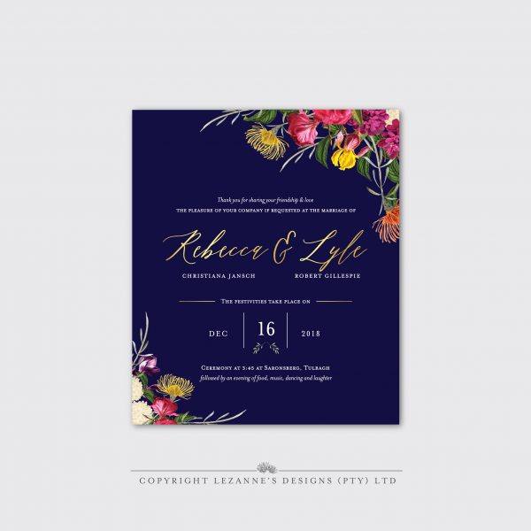 Boho Botanical - Wedding Invitation - Lezannes Designs