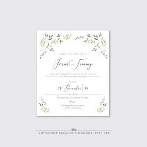 Laurel Love - Wedding Invitation - Lezannes Designs