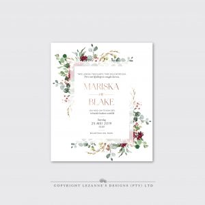 Scarlet Forest - Wedding Invitation - Lezannes Designs