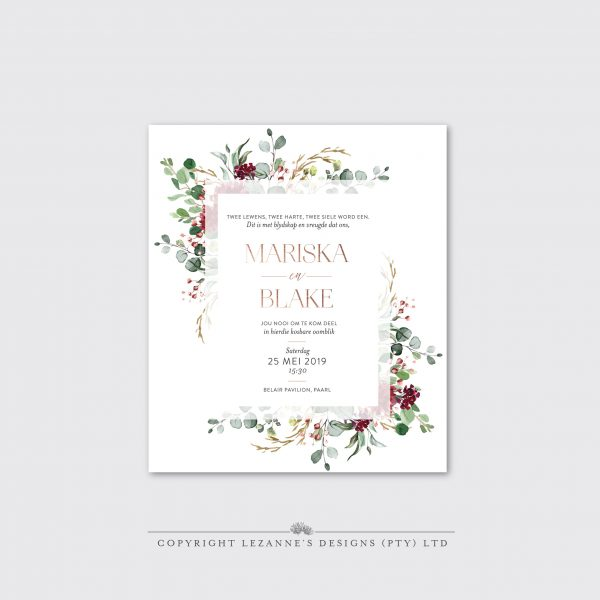 Scarlet Forest - Wedding Invitation - Lezannes Designs