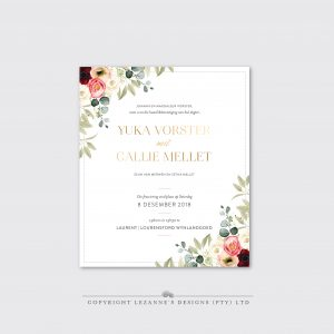 The Yuka - Wedding Invitation - Lezannes Designs