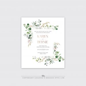 Woodlands Wonder- Wedding Invitation - Lezannes Designs