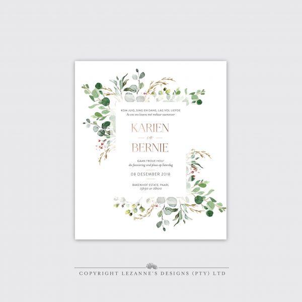 Woodlands Wonder- Wedding Invitation - Lezannes Designs